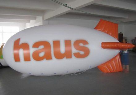 Helium PVC Blimp with 2 logo