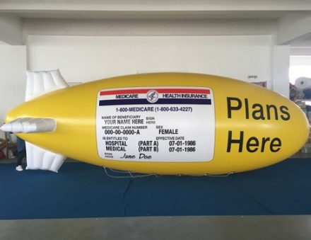 Helium PVC Blimp Full Cover Print