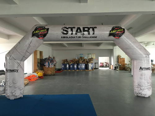 start inflatable arch