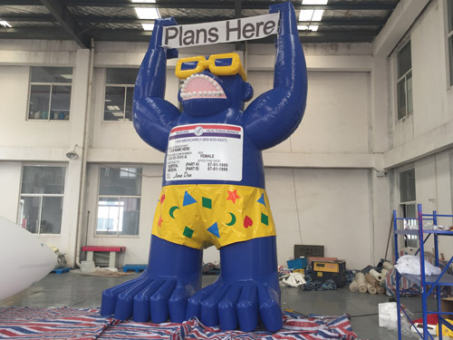 Inflatable Gorilla with Medicare Card
