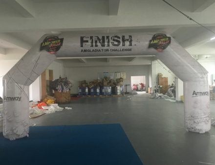 Start & Finish air cold inflatable arch