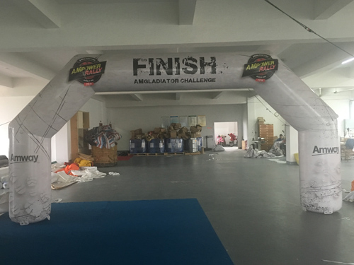 Finish inflatable arch