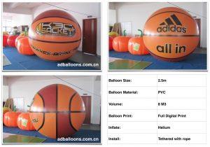 Basket Full Print Helium Balloon