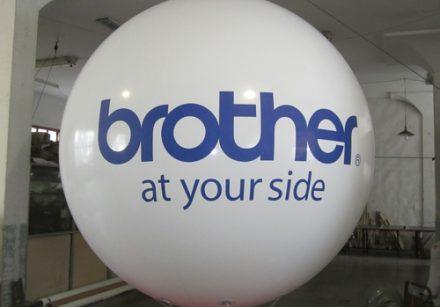 White PVC Sky Balloon With 2 logo imprinted