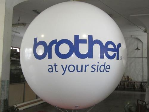 pvc sky balloon with 2 logo