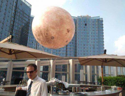 Moon Balloon Light Sky Float