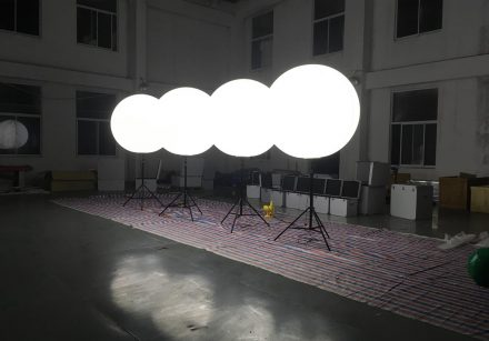 Lighted Balloon Stand In Brighted Led Lighting