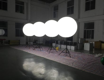 Lighted Balloon Stand In Bright Led Lighting