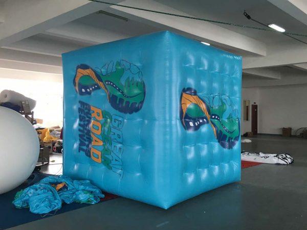 full cover print cube balloon