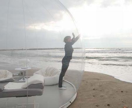 bubble tent beach 3 |