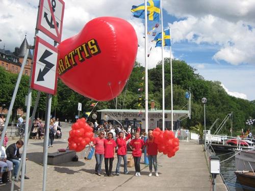 heart shape advertising balloon