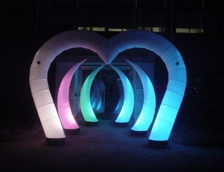 Heart Shape Arch Lighting