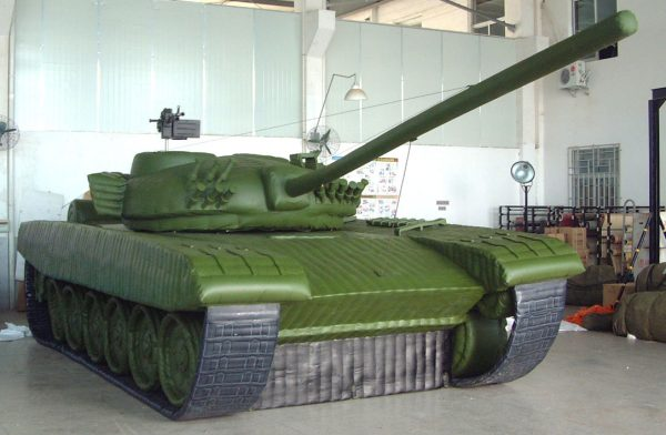T 72 inflatable military dummy