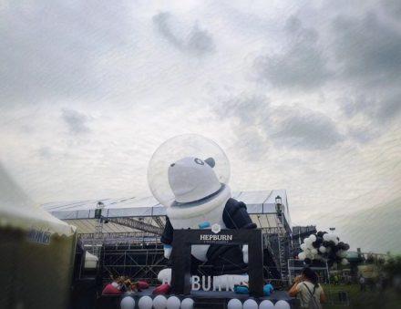 High 10m Giant Inflatable PandaBen Cartoon