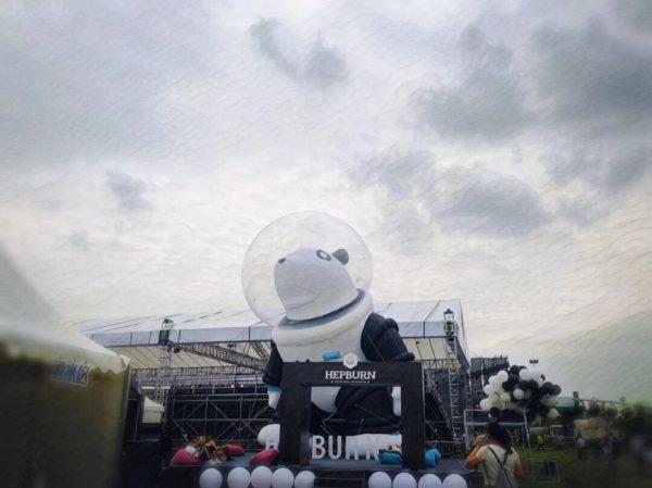 10m inflatable panda