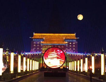 10m artificial sky moon balloon lighting