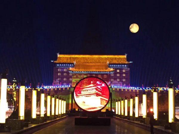 10m artificial moon balloon lighting