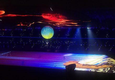 6m full imprint aerial acrobatic balloon