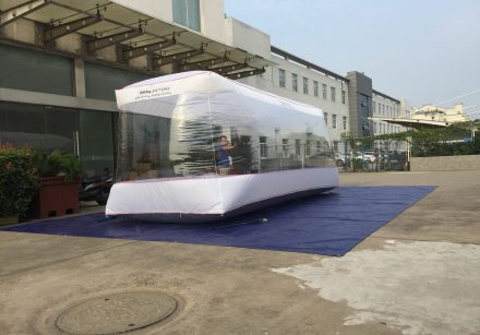 Inflatable Clear Car Cover | Customize | Tata Motor