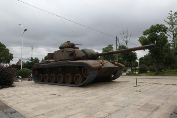 M60 main battle tank inflatable military dummy