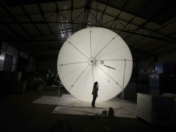 6m white manned performance sky balloon