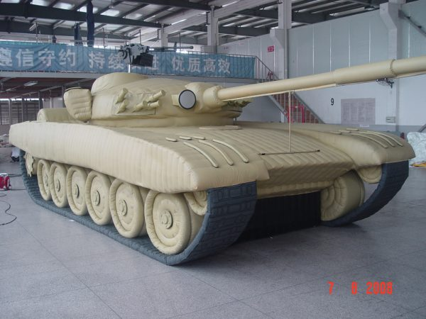 T 72 Tank inflatable military dummy
