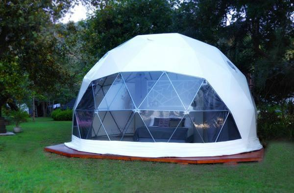 Luxury Glamping geodesic dome tent
