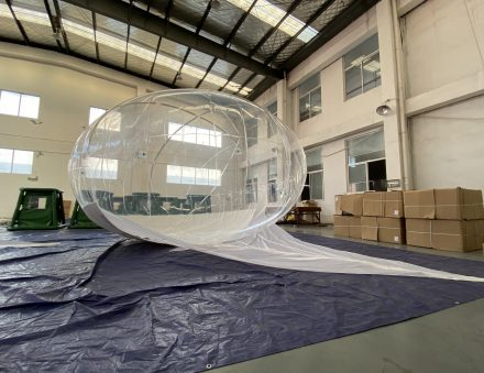 30 cu.m Helikite Balloon transparent color