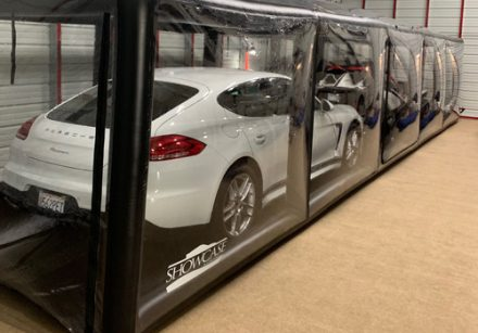 Clear Car Cover  Showcase   Indoor