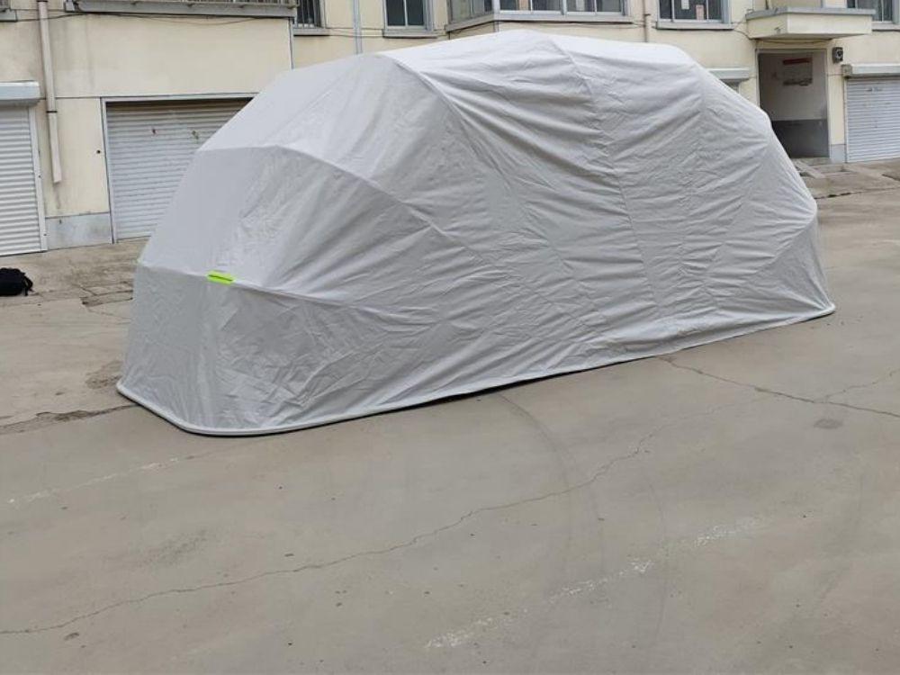 gray car garage