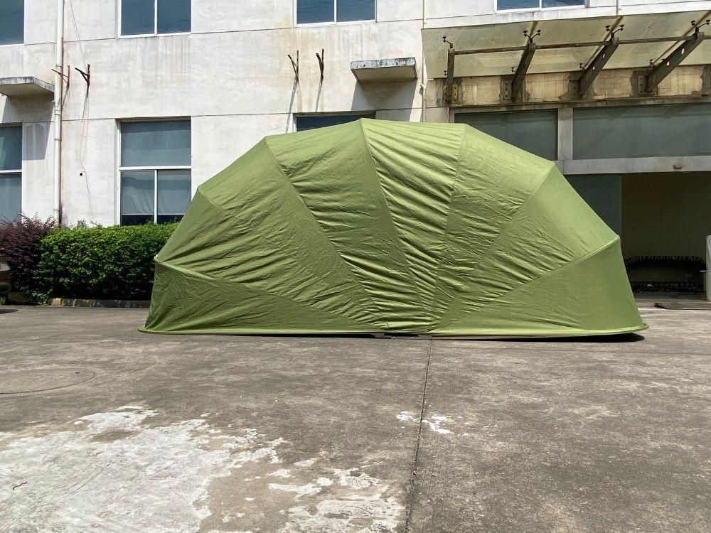 green car garage