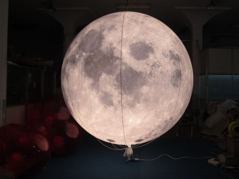 3m moon balloon with lighting | Leader of Inflatable Tent | Advertising Balloon | Balloon Light | Helium Compressor in China