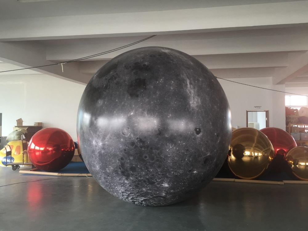 3m moon balloon | Leader of Inflatable Tent | Advertising Balloon | Balloon Light | Helium Compressor in China