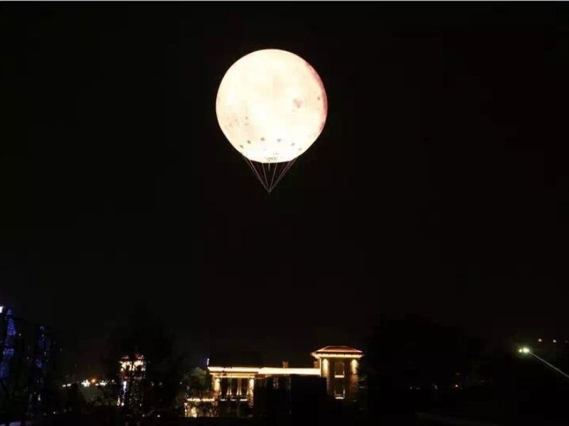 5m moon balloon 3 fly | Leader of Inflatable Tent | Advertising Balloon | Balloon Light | Helium Compressor in China