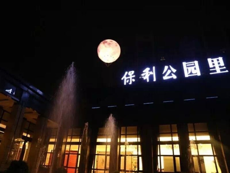 5m moon balloon fly | Leader of Inflatable Tent | Advertising Balloon | Balloon Light | Helium Compressor in China