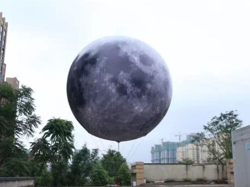 5m moon balloon inflate | Leader of Inflatable Tent | Advertising Balloon | Balloon Light | Helium Compressor in China