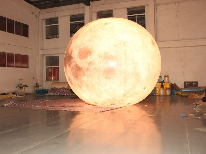 5m moon balloon warm light 3 | Leader of Inflatable Tent | Advertising Balloon | Balloon Light | Helium Compressor in China