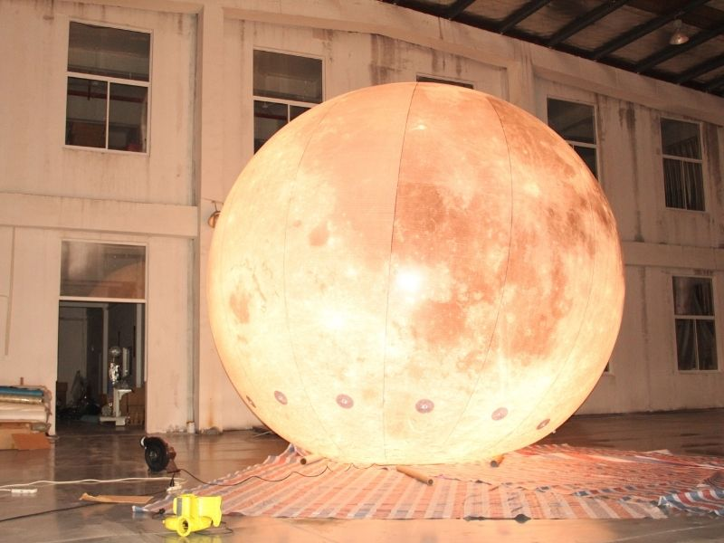 5m moon balloon warm light 4 | Leader of Inflatable Tent | Advertising Balloon | Balloon Light | Helium Compressor in China
