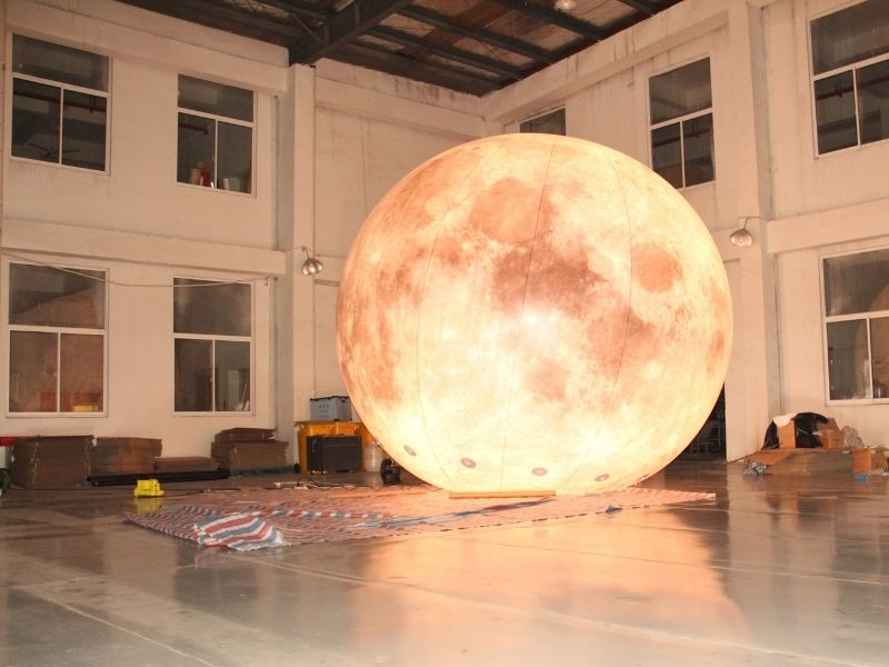 5m moon balloon warm light | Leader of Inflatable Tent | Advertising Balloon | Balloon Light | Helium Compressor in China