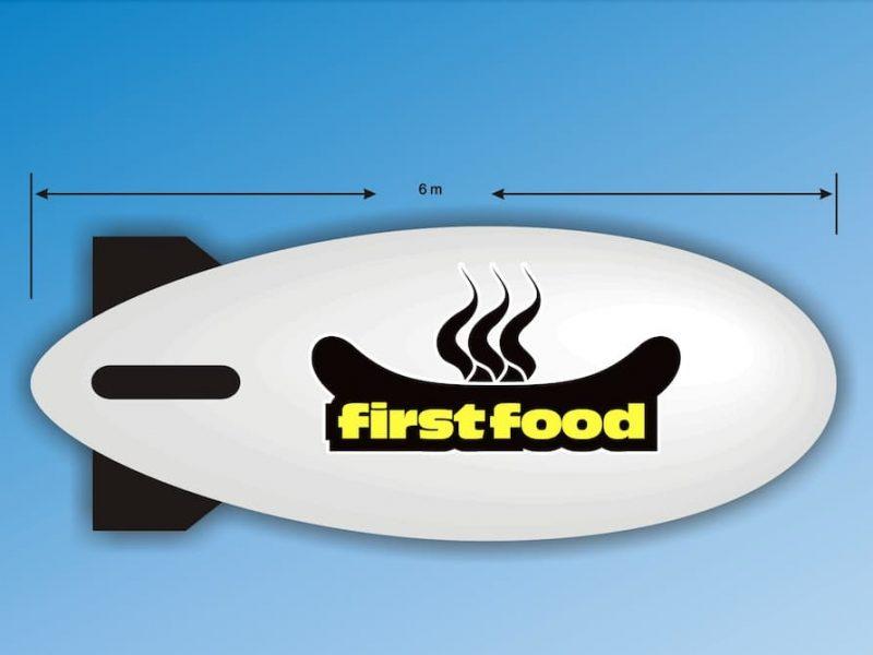 first food blimp design
